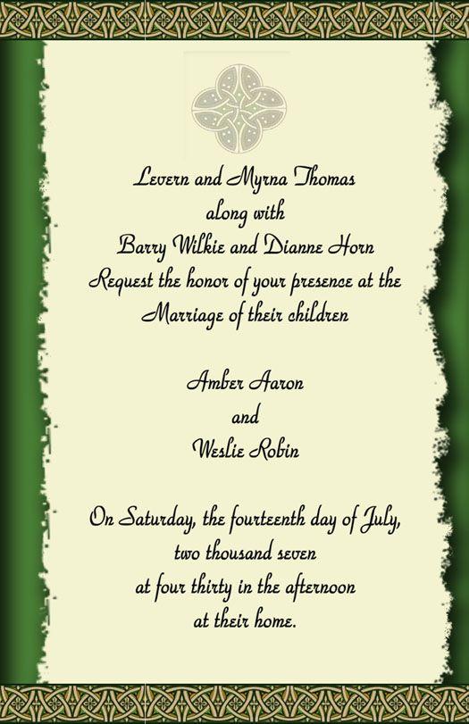 Do It 101 Irish/Celtic Wedding Theme ideas , templates, tutorials, beach themed favors