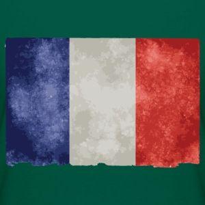 t shirt vert f femme drapeau français bleu blanc rouge - Tee shirt Femme, American Apparel