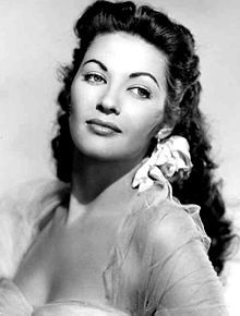 Yvonne de carlo - famous actress but knowen mostly for her role as Lily Munster on the TV show The Munsters.