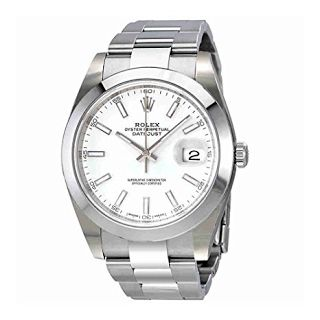 """""""Features & Benefits"""" Rolex Oyster Perpetual Datejust White Dial Automatic Mens Watch 126300WSO"""