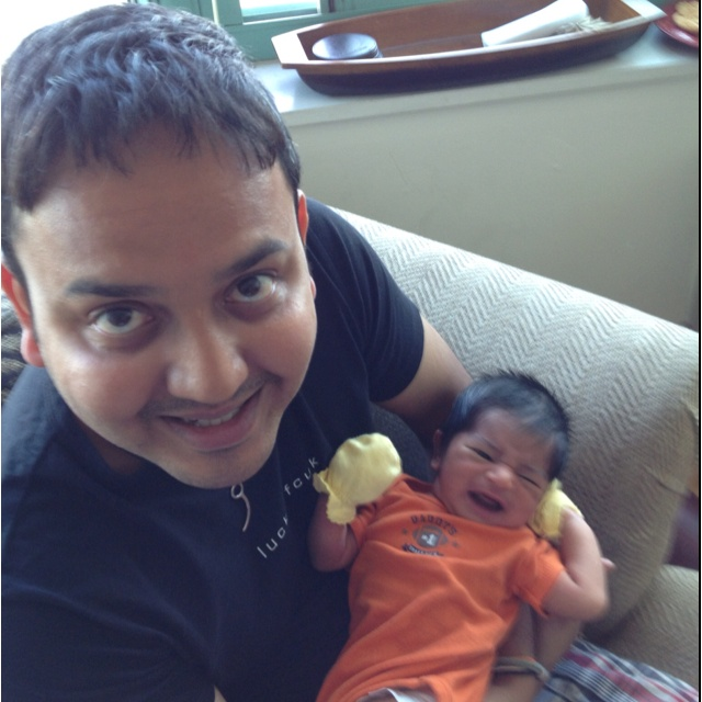 With proud uncle: Gen Goswami, Uncle