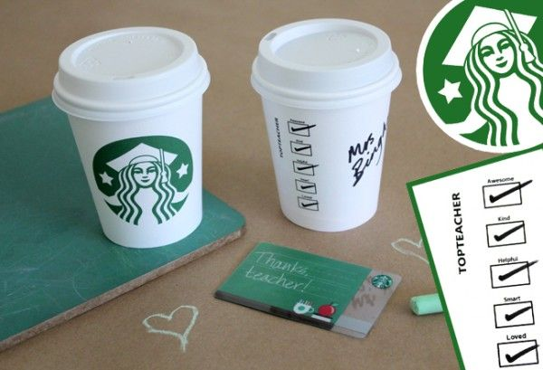 Fun way to give a Starbuck's Gift Card to teachers!