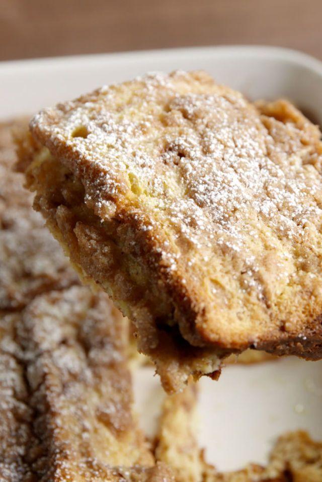 Cinnamon Swirl French Toast Casserole sub flour & use Rudi's gf cinnamon swirl bread!