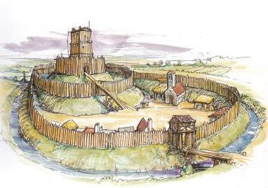 Types of Castle, pre-Norman wooden motte & beiley castle