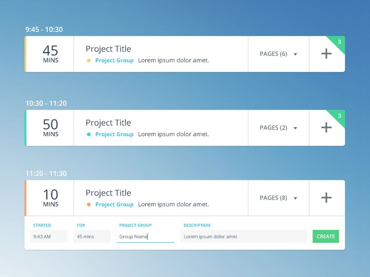 Dribbble - Time Tracking Assistant UI by Aqeela Valley