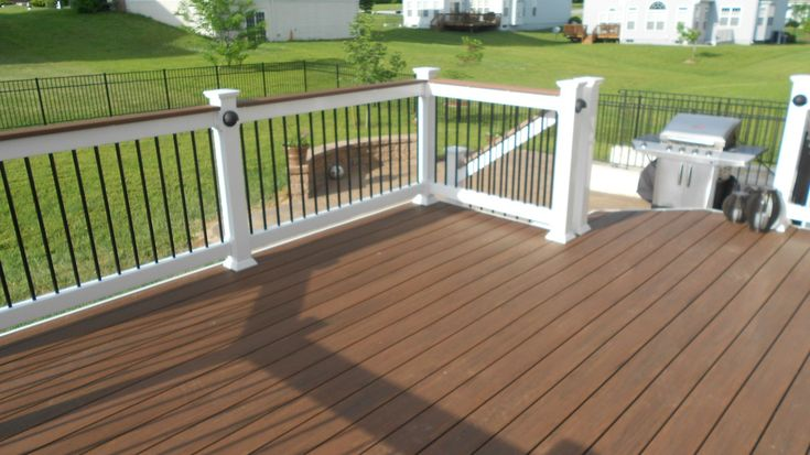 "AZEK ""Mahogany""  Vintage Collection PVC Decking"
