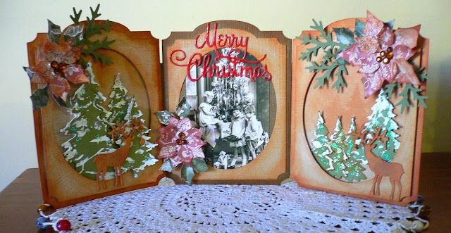 Couture Creations: Merry Christmas Triptych by Adriana Bolzon