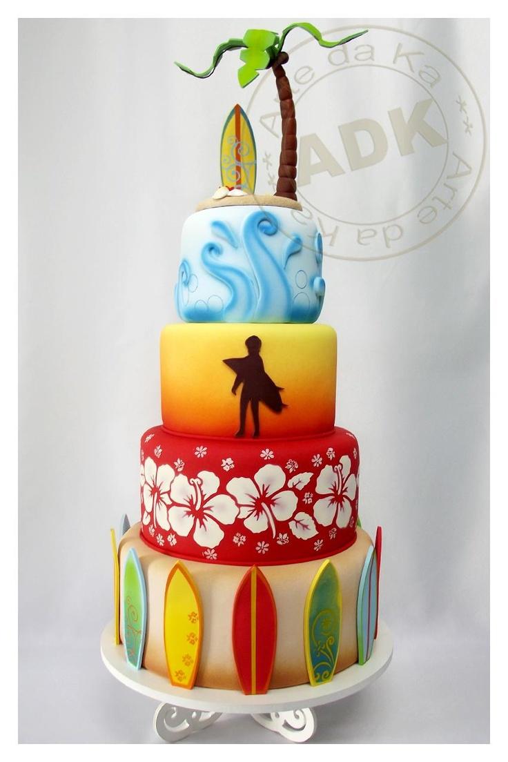 Hawaiian, surf #cake  Arte da Ka