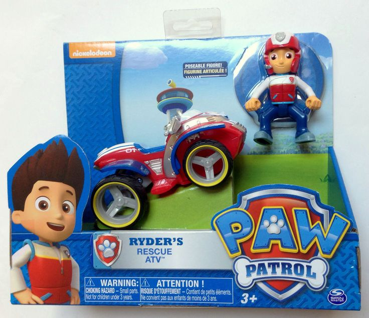 Nickelodeon Paw Patrol Ryder's Rescue ATV Vehicle and Figure #SpinMaster