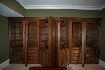 Hidden Gun Safe Traditional Home Office Atlanta