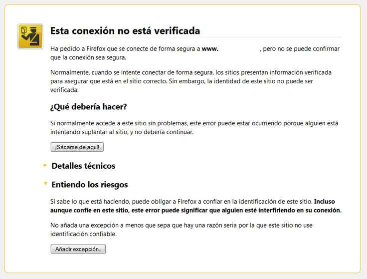 Excepción Certificado Seguridad Mozilla Firefox Blog