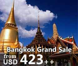 Bangkok Grand Sale 3D2N or 4D3N. Including flight ticket from Jakarta or Land Only. It's a great package for people who love going shopping.