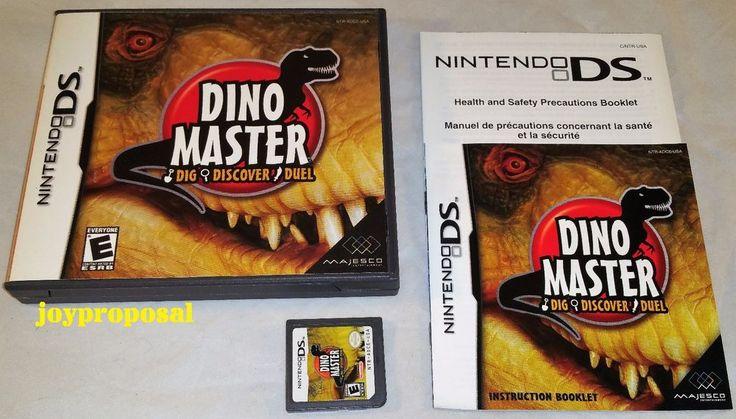 Dino Master Dig Discover Duel Nintendo DS 3DS Game Case Booklet Dinosaur Fossils