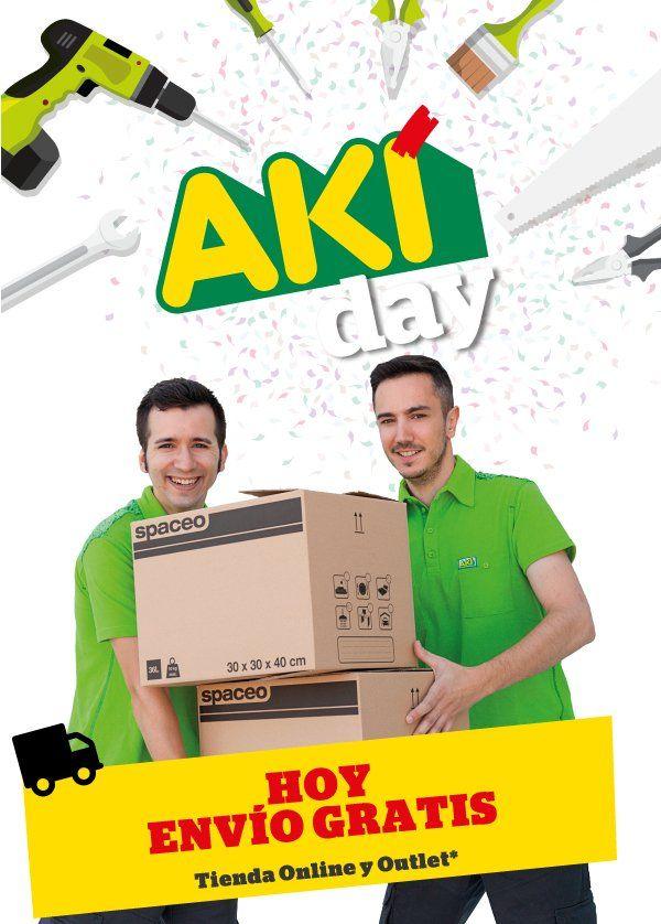 ¡¡Bienvenidos al #AKÍDay!!!  Hoy, olvídate del transporte porque...¡Es gratis! ¡Haz tu pedido en Tienda Online y Outlet! #FelizMartes 🚛💨