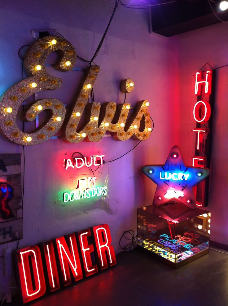 Neon signs by Chris Bracey.