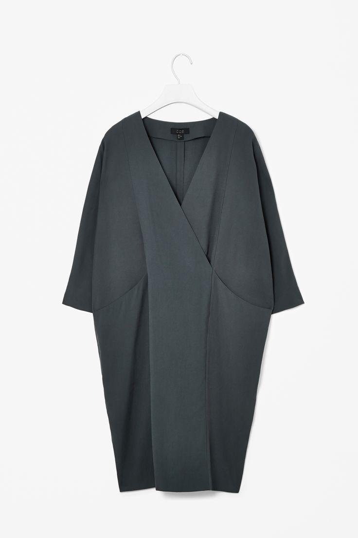 Overlap v-neck dress Cos