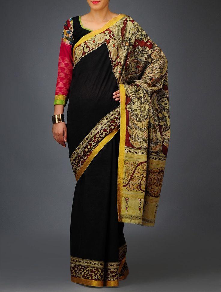 Dasavtara Kalamkari Mangalgiri Cotton Saree - Buy Sarees > Printed Sarees > Dasavtara Kalamkari Mangalgiri Cotton Saree Online at Jaypore.co...