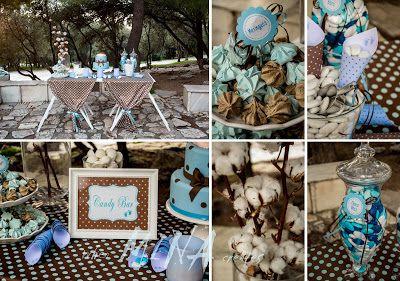 when Mina creates: Καφέ με γαλάζιο! Μία χειμερινή βάπτιση αγοριού!