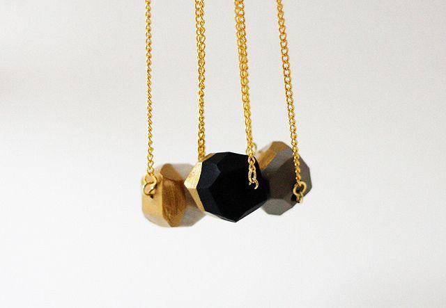 love the geometrics!: Gold Dips Necklaces, Faucets Pendants, Amm Blog, Diy Jewelry, Shops Announcements, Cool Necklaces, Geometric Jewelry, Geometric Necklaces, Dips Pendants