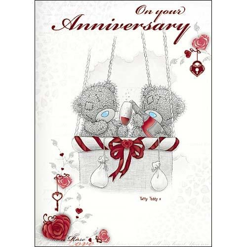 On Your Anniversary Me to You Bear Card (A01SS259) : Me to You Online - The Tatty Teddy Superstore.