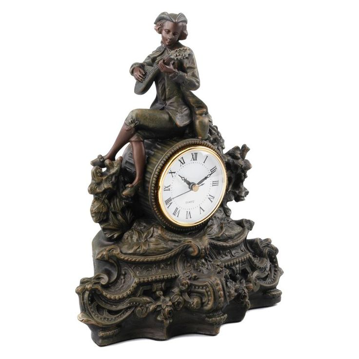 AA Importing Man Playing Mandolin Desktop Clock - 6528, AAI633-1