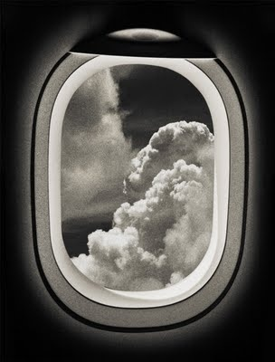 up in the cloudsClouds, Airplanes Windows, Windows Seats, The View, Black White, Travel, Photography, David Terrazas, Windows View
