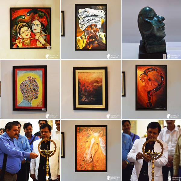 National Rainbow Group Art Exhibition, organized by Talent Art Academy was inaugurated at Artizen Art Gallery, Pearey Lal Bhawan, ITO, New Delhi on 10th May, 2016.The exhibition is on till 13th May 2016, from 11 A.M. to 7 P.M. Here is some of the art work at display: