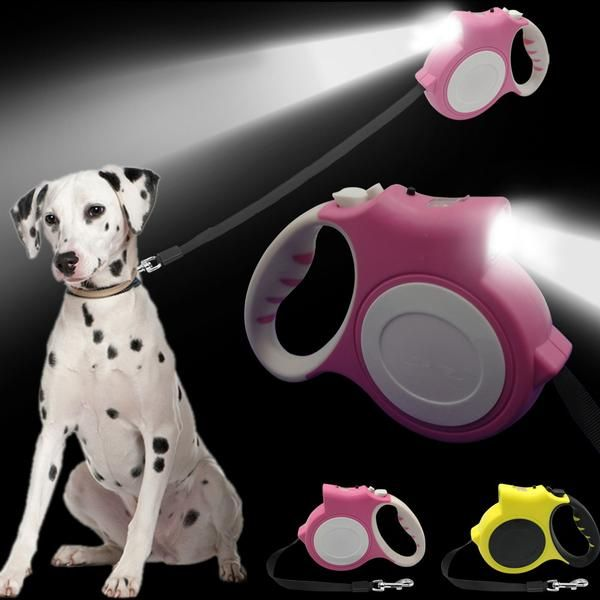 Retractable Dog Leash With FlashLight