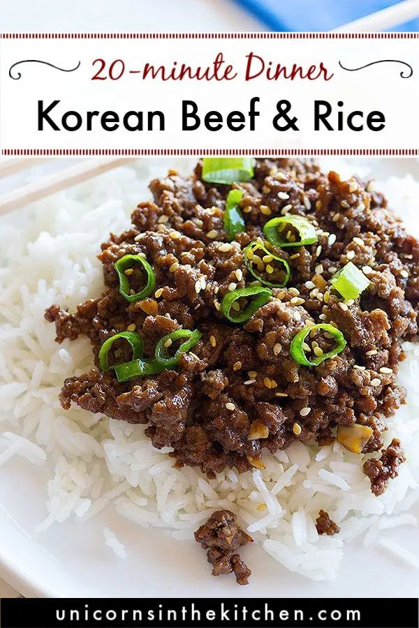 Quick Korean Beef And Rice Recipe Unicorns In The Kitchen Dinner With Ground Beef Quick Ground Beef Recipes Ground Beef Recipes For Dinner