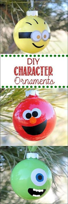DIY Character Ornaments.  My daughter would love this.  It needs zombies for plants vs. zombies.  LOL.