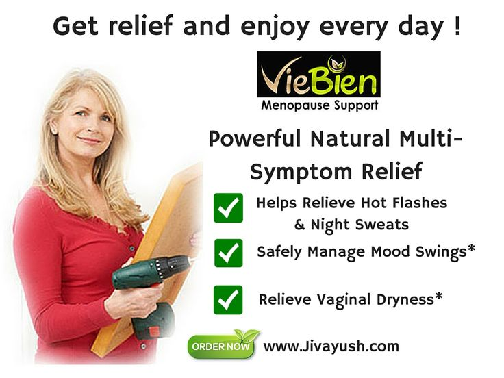 Bye Bye, Hot flashes & night sweats Try it, ladies ! VieBien Menopause Support helps relieve hot flashes & night sweats. Life is already crazy enough, get relief and enjoy every day!