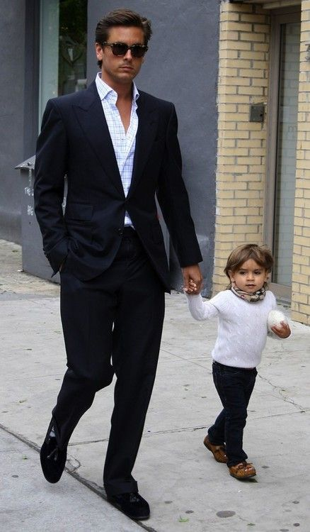 No matter what you think about him you have to admit he is a great dad and dresses oooo so dapper (including his mini-me)