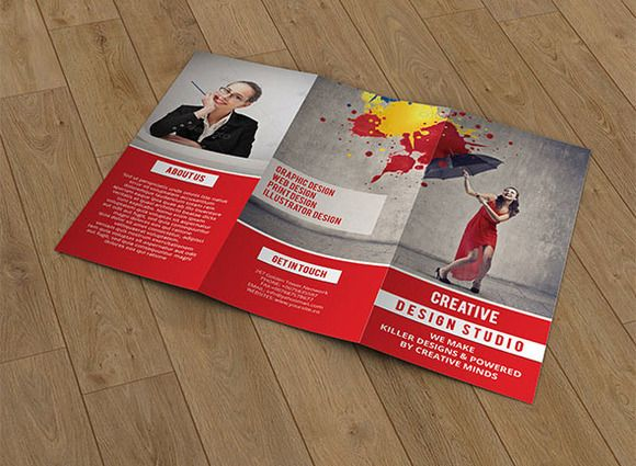 Trifold Creative brochure template by Template Shop on Creative Market