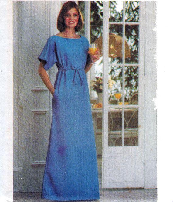 1970s Vintage Sewing Pattern Womens Caftan Loungewear