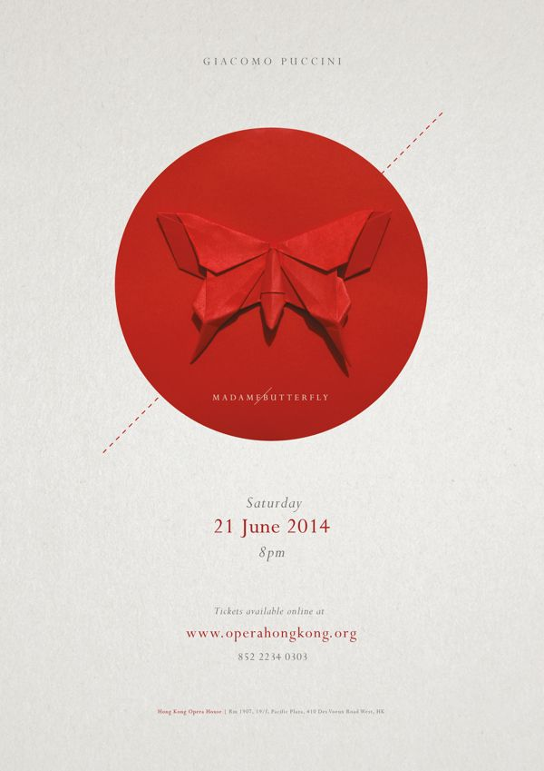 Madame Butterfly Opera Poster by Stephanie Yung, via Behance