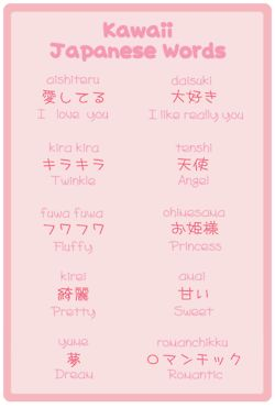 Kawaii japanese words