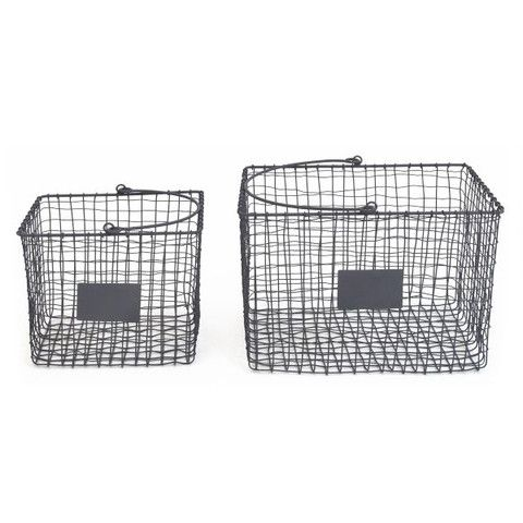 LET LIV - Grey Wire Baskets