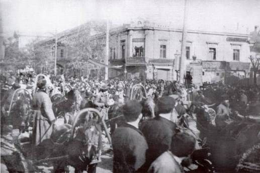 Odessa Protest Against the Tsar October 1905.
