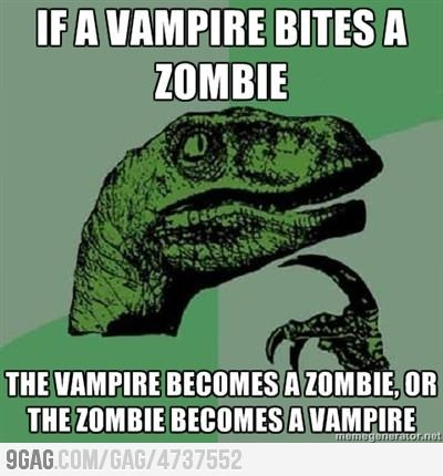 Zombie or Vampire?: Thoughts, Mind Blown,  Dust Jackets, Books Jackets, Funny Pictures, Funny Stuff, Even,  Dust Covers,  Dust Wrappers
