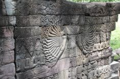 Bas-relief of a 32-armed Avalokiteshvara on west side of Banteay Chhmar, Cambodia, 12th century