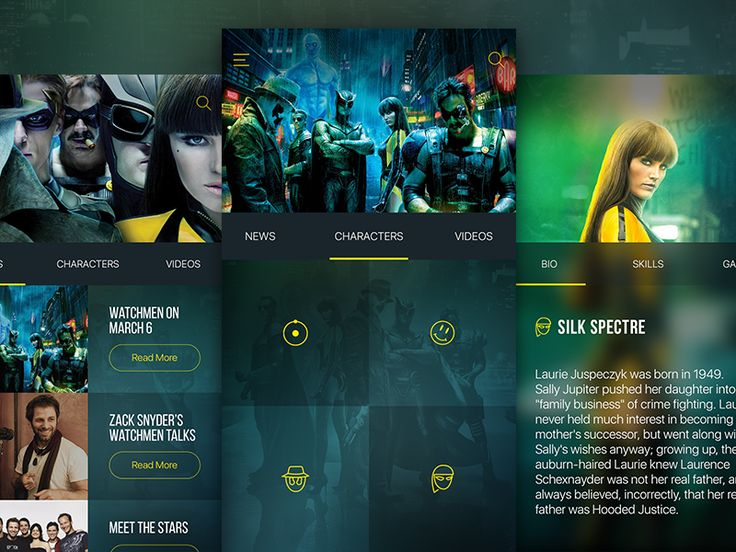 Watchmen UI Design Concept by Jason Fallas