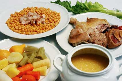 Cocido Madrileño, yummy mix and match stew from Madrid