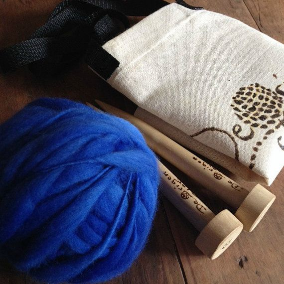DIY / Textured Scarf Knitting Kit by deorigenchile on Etsy