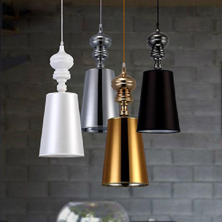 Modern Brief Pendant Lamps  Dining Room Pendant Lights White /Black /Golden /Silver Spain Jaime Hayon Design Metalarte Josephine