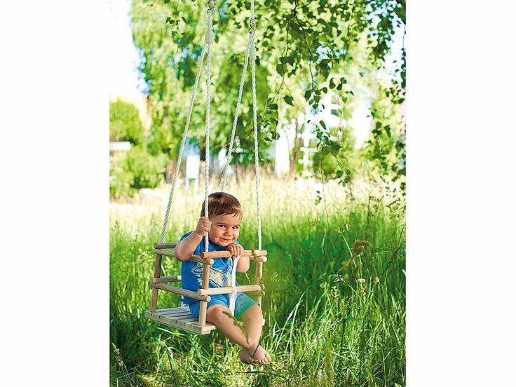 Kleinkinder-Schaukelsitz aus Holz Für sicheren, fröhlichen #Schaukelspaß an Schaukelgerüst oder Apfelbaum