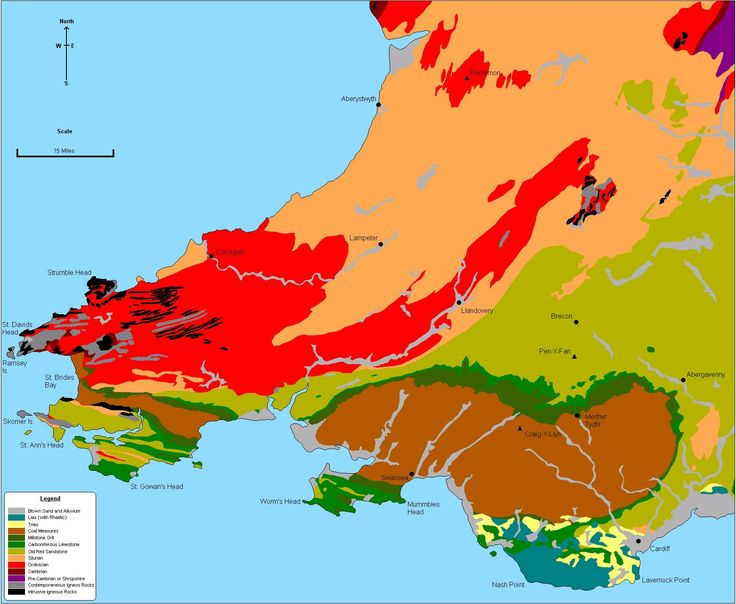 geological map of wales - Google Search