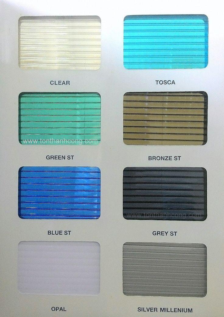 Bảng Màu – SOLARLITE, Tấm Polycarbonate Rỗng Ruột Indonesia #polycarbonate #solarlite #indonesia