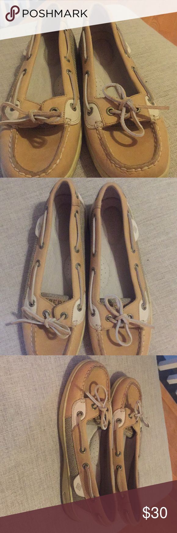 Sperry Sz 7.5 Women's Angelfish Boat Shoe Sperry Women's 7.5- Worn only ONCE on vacation when I forgot my old ones, bought these a 1/2 too small. All offers considered. Sperry Top-Sider Shoes