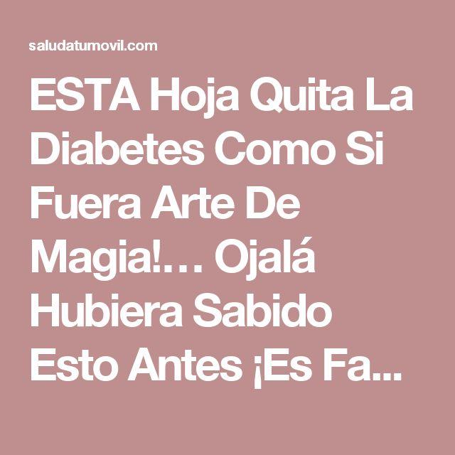 ESTA Hoja Quita La Diabetes Como Si Fuera Arte De Magia!… Ojalá Hubiera Sabido Esto Antes ¡Es Fantástico!