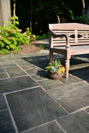 Paver patio by Unilock with Rivenstone